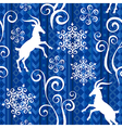 Pattern goat year blue vector