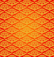 Beautiful asian art pattern red background vector