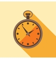 Icon retro watch in flat design style vector