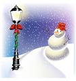 Christmas lantern vector