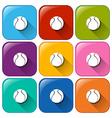 Ball buttons vector
