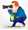 Cheerful chubby men vector