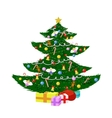 Wonderful christmas tree vector
