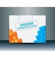 Under construction banner vector