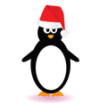 Penguin with red hat vector