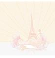 Beautiful women silhouette in paris - card vector