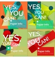 Set of flat design square banners vector