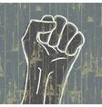 Grunge fist symbol vector