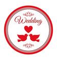 Wedding label vector