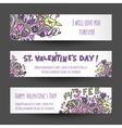 Love banners design vector