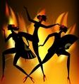 Flaming dance vector