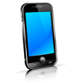 Black mobile cell smart phone vector
