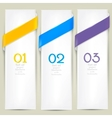 Colorful bookmarks for text background vector
