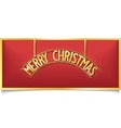 Red christmas design lettering on signboard vector