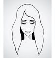 Sketch of a beautiful woman hand drawn vector