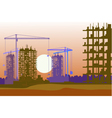 Banner of construction site with cranes vector