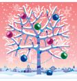 Winter tree vector