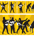 Rock and roll silhouettes vector