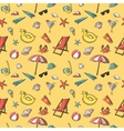 Seamless summer vacation travel pattern vector