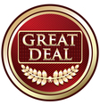 Great deal red label vector