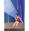 Roaring 20s poster flappers cocktail night club vector