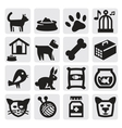 Pets icons vector