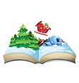 Winter book vector