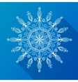 Beautiful snowflake vector