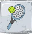 Tennis sports theme vector