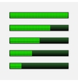 Set of green progress bars loading bars vector