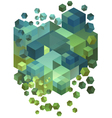 Abstract 3d cubes vector