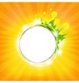 Sunburst background with stars vector