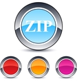 Zip round button vector