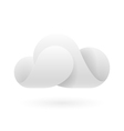 Abstract white cloud vector