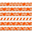 Set of warning tapes vector
