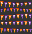 Halloween hanging flags with different symbols vector