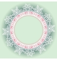Beautiful decorative round frame vector