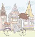 Girlandhouses vector