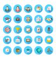 Round flat resume icons vector