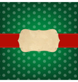 Vintage green merry christmas label vector
