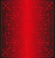 Luxury vintage floral background red colornt vector