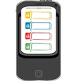 Safely concept cellphone with lock set vector