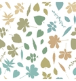 Colorful leaf silhouettes seamless vector
