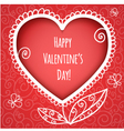 Decorative red heart for valentines day vector