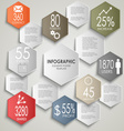 Abstract colorful hexagon info graphic poster vector