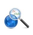 Domain search icon vector