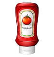 A ketchup inside the red bottle vector