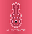 Guitar on pink vector
