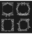 Chalkboard christmas ornament frames vector
