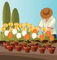Flower-gardener vector